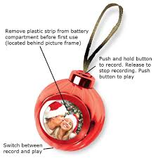 amazon com red voice recording talking christmas ornament add