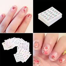 new nail wraps flower nail art stickers polish watermark nail