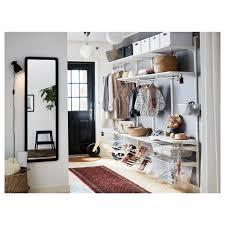 algot wall upright shelves rod white 250x40x196 cm ikea