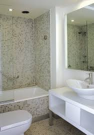 Finished Bathroom Ideas Wall 4 Light Fixtures Over Mirror Bath Small Apartment Bathroom