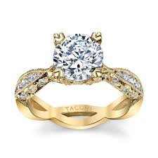 engagement ring setting tacori 18k yellow gold diamond engagement ring setting 3 8 cttw