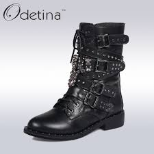 black leather motorcycle boots compare prices on womens black leather motorcycle boots online