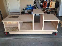 how to build a table saw workstation table saw cabinet plans savae org