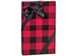 wrapping paper bulk 85 ft roll buffalo plaid and black wrapping