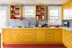 blue kitchen cabinets and yellow walls 75 beautiful kitchen with yellow cabinets and blue