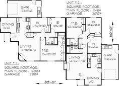 single story duplex designs floor plans main floor plan for d 497 single story duplex house plans corner