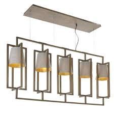 Hurricane Chandelier Hurricane Antique Brass 5 Light Long Chandelier Chic Concept