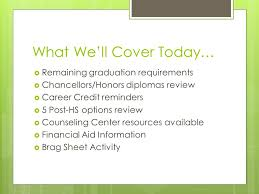 Guidance Counselor Brag Sheet Junior Year Guidance What You Need To To Plan For The Rest Of