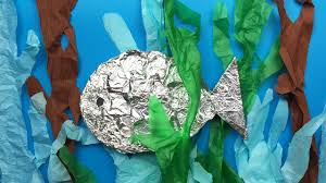 how to make a fish simple art and craft project for preschool