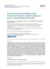 Alat Tes Wais development and reliability of the pdf available