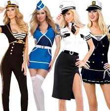 pilot halloween costumes ladies navy sailor pilot air hostess stewardess uniform fancy