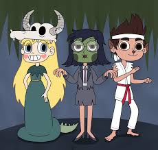 star janna and marco in halloween special by deaf machbot on