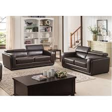 ac pacific calvin 2 piece leather living room set u0026 reviews wayfair