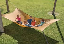 fancy tailgaters will appreciate this hammock for tailgating