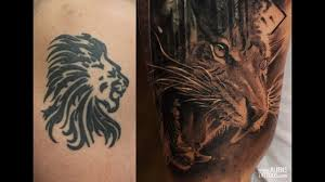 realism tiger eagle cover up by