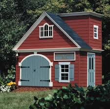 decorating ideas outdoor playhouse design with red siding wall