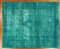 new 9 u0027x11 u0027 persian irani blue green overdyed kerman hand knotted