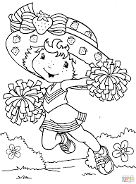 strawberry shortcake and strawberry castle coloring page free