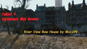rowhou com settlement mod review river view row house by mccx99 youtube