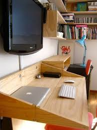 Small Computer Desk With Shelves Diy Computer Desk Ideas Space Saving Awesome Picture Desk