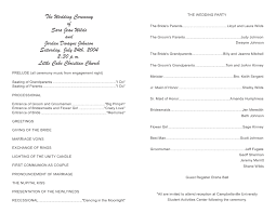 wedding bulletins exles program template 8