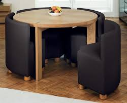 Small Round Kitchen Table by Home Design Pelling Roma Black And White Round Dining Table 4