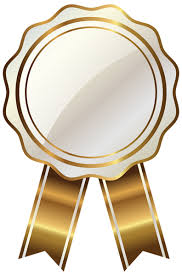 gold ribbon white seal with gold ribbon png clipart image gallery