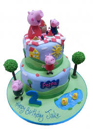 peppa pig cake peppa pig picnic cake