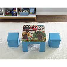 modern kids table small folding table and chair set for kids on the white rug on the