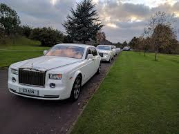 roll royce wedding wedding at the mere wedding cars rolls royce phantom limo hire
