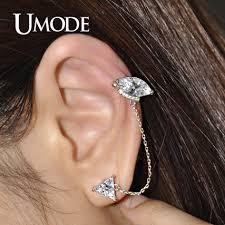 diamond cartilage piercing umode stunning ear cartilage piercing stud earring of triangle
