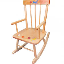 childrens personalized wooden rocking chairs designs