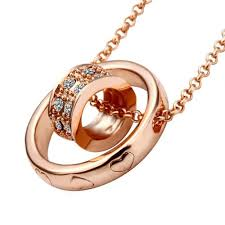 accessories ring necklace images Jistl rose gold color dual ring rhinestone crystal jpg