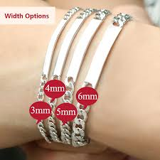 Engraved Necklaces For Couples Coise Couple Bracelets Personalized Id Tag Name Bracelets Set