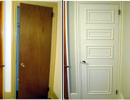 how to make wood paneling look modern how to make your hollow core doors look expensive when you u0027re on a