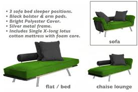 lounge chair futon bed spacely green daybed set the futon shop