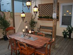 add a outdoor room to home adding recessed tile to a dining table hgtv