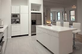contemporary white themes kitchen studio design collections with