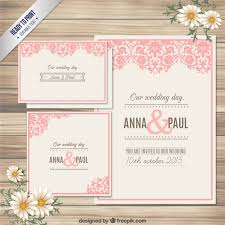 marriage invitation card ornamental wedding invitation card vector free
