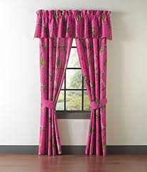 realtree pink camo camouflage drapes curtains valance sold