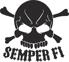 jeep silhouette us marine semper fi skull vinyl decal usmarines semperfi decal