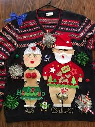 15 naughty christmas sweaters inappropriate but funny ugly