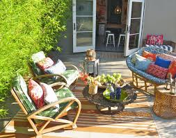 Outdoor Bamboo Rugs For Patios by Furniture Outdoor Papasan Chair With Ottoman And Area Rug For