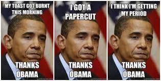 Blame Obama Meme - red white meme matter medium