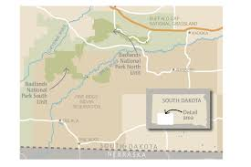 badlands national park map will the badlands become the tribal national park can a