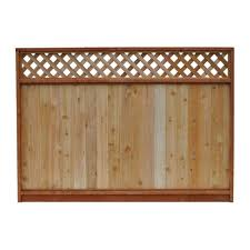 Decorative Fence Panels Home Depot by Signature Development 6 Ft H X 8 Ft W Western Red Cedar Lattice