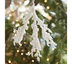 white beaded coral ornament pottery barn