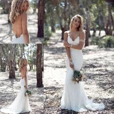 katie may sheath mermaid backless boho wedding dresses lace