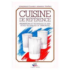 livre de cuisine cap de référence préparations et techniques de base fiches