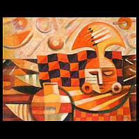 cubism flower painting cubist paintings at novica